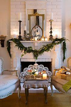 pretty mantel decor