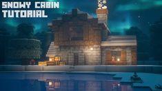 Minecraft Snowy Cabin Tutorial! - YouTube Minecraft Cabin, Minecraft House Plans, Cute Minecraft Houses, Minecraft Houses Blueprints, Minecraft Christmas, Cool Minecraft, Minecraft Crafts, Minecraft Buildings, Minecraft Survival