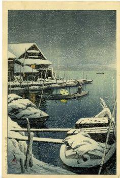 "Artist Kawase Hasui  Series: Hotei Hasui Catalog #261  Year: c.1950  Size:15 1/2"" x 10 1/2"""