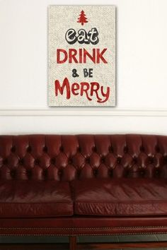 """Oliver Gal """"Eat Drink and Be Merry"""""""