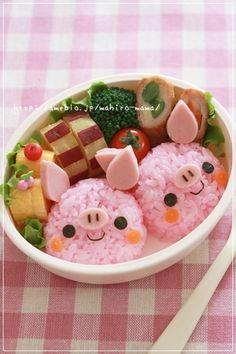 Little Twin Piggy Bento