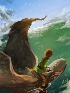 Hiccup and Toothless by meltesh28 #HTTYD #fanart