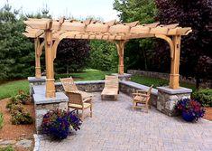 Outdoor Lighting Pergola by Trellis Structures