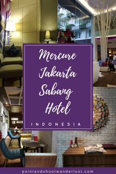 Mercure Jakarta Sabang Hotel is centrally located in Jakarta and offers 4 star contemporary stay. Check out our one night stay in this cozy hotel. Mercure Hotel, Travel Money, Singapore Travel, Countries To Visit, Stay The Night, Romantic Travel, Amazing Destinations, Asia Travel, Jakarta