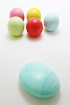 eos lip balm... organic, and yummy. I've been using them for a couple years, almost since they came out and  apparently now they are all the rage.