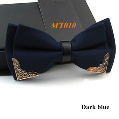 Solid deep colored accented bow tie.