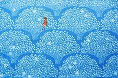 Michael Miller Fabric, Cotton Fabric, Wee Wander, Sarah Jane, TreeLights, Coordinates, Pants, Skirts, Dress, Boys and Girls, Half Metre by TwoChubbyRabbits on Etsy