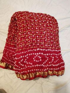 Indian Traditional Handmade Indian Saree Rajasthani Bandhani red color silk saree Gathchola Bandhej saree with blouse Indian Sarees, Silk Sarees, Georgette Sarees, Bandhani Dress, Bridal Lehenga Collection, Bridal Silk Saree, Stylish Dresses For Girls, Saree Models, Indian Designer Outfits