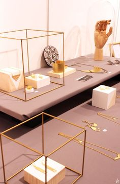 Gorgeous minimalist display cases for jewelry