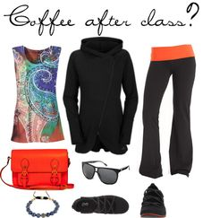"""""""Coffee after class?"""" by tabbyabby on Polyvore"""