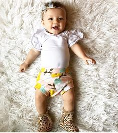 good morning from this happy little squish rocking our vintage floral bummies