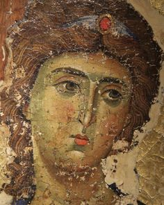 Arcangel Gabriel-Byzantine Art- monastery of Saint Catherine in Sinai Byzantine Icons, Byzantine Art, Religious Icons, Religious Art, Angel Sculpture, Greek Culture, Book Of Kells, Archangel Michael, Art Icon