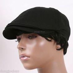 6f4b3fbb A1037 BLACK BERET Newsboy Hat Visor Men Cap Ladies Caps For Women, Men And  Women