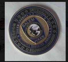 Salem, The Witch City. Salem, MA. Police Dept. Challenge Coin