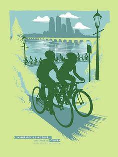 Testprint/Monoprint, One-of-a-Kind by Adam Turman Go Ride, Vintage Cycles, Big Words, Advertising Poster, Venice Beach, White Sand Beach, Bike Life, Local Artists, Minneapolis