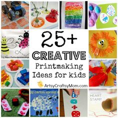 25Creative Printmaking ideas   25+ Creative Printmaking Ideas for kids    foam Block printing Art Appreciation Age5 7 Age3 5