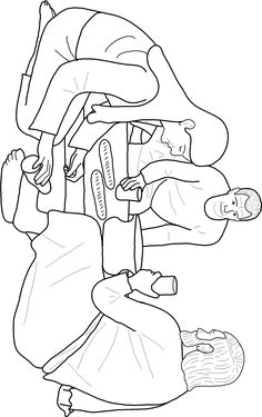 Coloring page: Mary Anoints Jesus