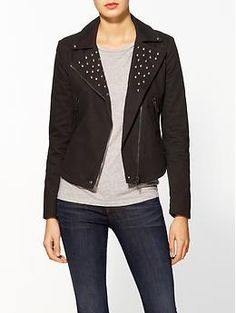 Rhyme Los Angeles Studded Moto Twill Jacket   Piperlime