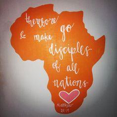 Inspirational Canvas Africa Bible Verse hand by DrawingUpSchmitt, $30.00