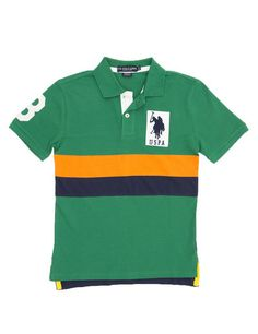 Boys Color Block Polo Shirt
