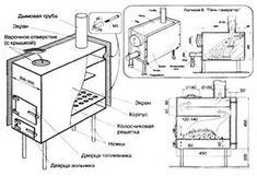 Буржуйка своими руками: как сделать печь из бочки и других подручных материалов