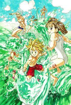 One-shots Nanatsu No Taizai Otaku Anime, Manga Anime, Anime Art, Anime Seven Deadly Sins, 7 Deadly Sins, Fanarts Anime, Anime Characters, Meliodas And Elizabeth, Super Anime