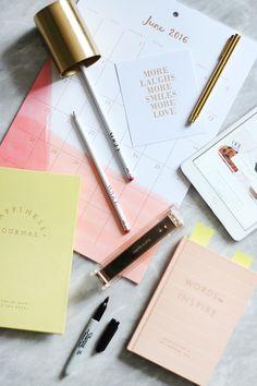Pretty Feminine Pastel And Gold Stationery Flatlay | The Elgin Avenue Blog