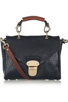 Mulberry | Polly Push Lock Small textured-leather shoulder bag | NET-A-PORTER.COM - StyleSays