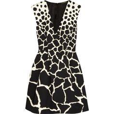 Gaia printed cotton mini dress (6 315 SEK) ❤ liked on Polyvore