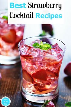 Strawberry season is upon us and the Best Strawberry Cocktail Recipes are just what Thirsty Thursday needs! From Strawberry Mojitos to Strawberry Martinis and even a Strawberry Sangria will have you sipping and singing about summer!