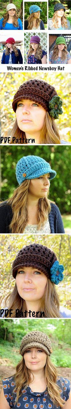 Women's Ribbed Newsboy hat - *Inspiration* $5 on Etsy