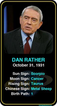 Celeb #Scorpio birthdays: Dan Rather's astrology info! Sign up here to see more: https://www.astroconnects.com/galleries/celeb-birthday-gallery/scorpio?start=30  #astrology #horoscope #zodiac #birthchart #natalchart #danrather
