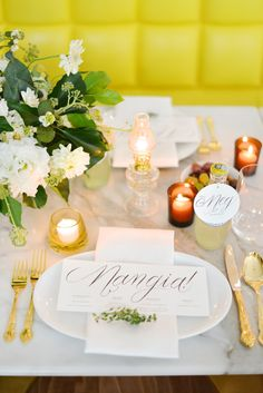 place setting | love that citron color in the background too