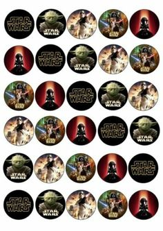 30 x Star Wars Mixed Images Edible Cup Cake Toppers 172   eBay