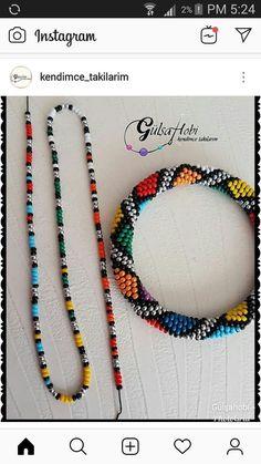 """Hobistan on Instagram: """"Yaz boyu hiçbir iş yapmadığımdan yazın aldığım bu renkli kolye siparişini tamamlamak üzereyim 🤗sipariş için dm 👉 hapishaneişi…"""" - Crochetfornovices.com"""