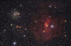 Туманность Пузырь и M52 / Интересный космос