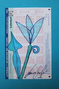 Flor de la suerte ll. Rotulador sobre papel. 16x10 cm. Disponible. FLOWERS, ART, PAINTING