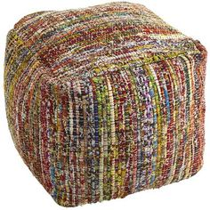 "Enter the pouf—so self-contained, so independent, a world unto itself. Need a place to sit? Pouf can be anywhere, anytime. ""Whoa! Watch out!"" say chairs. ""That pouf is just crazy!"" But pouf isn't crazy. Crazy colorful, maybe. Crazy soft. Crazy convenient. But it doesn't care what other seating thinks. It's the pouf."