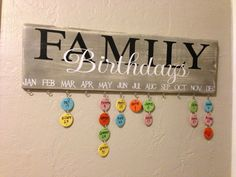 Family Birthday Board by OhCliche on Etsy, $50.00