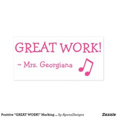 """"""" Marking Rubber Stamp created by AponxDesigns. Music Teacher Gifts, Music Teachers, Sign Off, State Art, Music Lovers, Smudging, Musicians, Stamps, Motivational"""