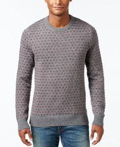 Tommy Hilfiger Men's Geometric Crew-Neck Sweater
