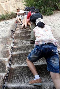 danger hiking trail  in china  crazy hike