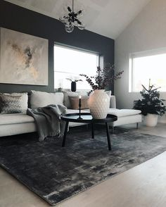 55 beautiful apartment interior without create with love 4 « Home Decoration Apartment Interior, Home Living Room, Apartment Living, Interior Design Living Room, Living Room Designs, Interior Livingroom, Black Living Room Furniture, Black White And Grey Living Room, Grey Furniture