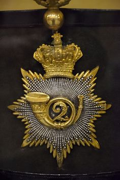 Officer's shako plate of the 2nd Bombay European Regiment, 1837-1862, from the Durham Light Infantry museum
