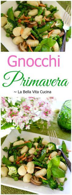 Gnocchi Primavera with Spring Asparagus and Peas #sundaysupper