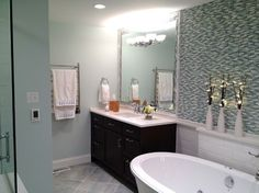 Blue Bathroom Design Ideas, Pictures, Remodel, and Decor - page 70