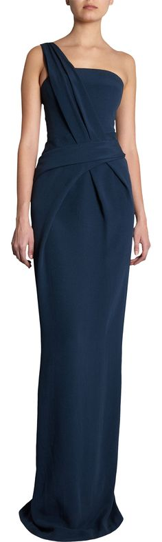 J. Mendel One Shoulder Gown