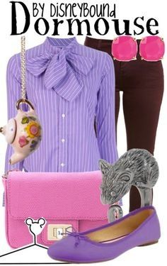 Dor mouse inspired outfit Alice in Wonderland