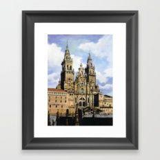 Catedral de Santiago de Compostela/Santiago de Compostela Cathedral Framed Art Print