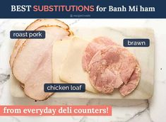 Best easy to find meat for Banh Mi Vietnamese Sandwich Vietnamese Sandwich, Banh Mi Sandwich, Vietnamese Recipes, Chicken Loaf, Chicken Feed, Banh Mi Recipe, Food Network Recipes, Cooking Recipes, Juicy Baked Chicken